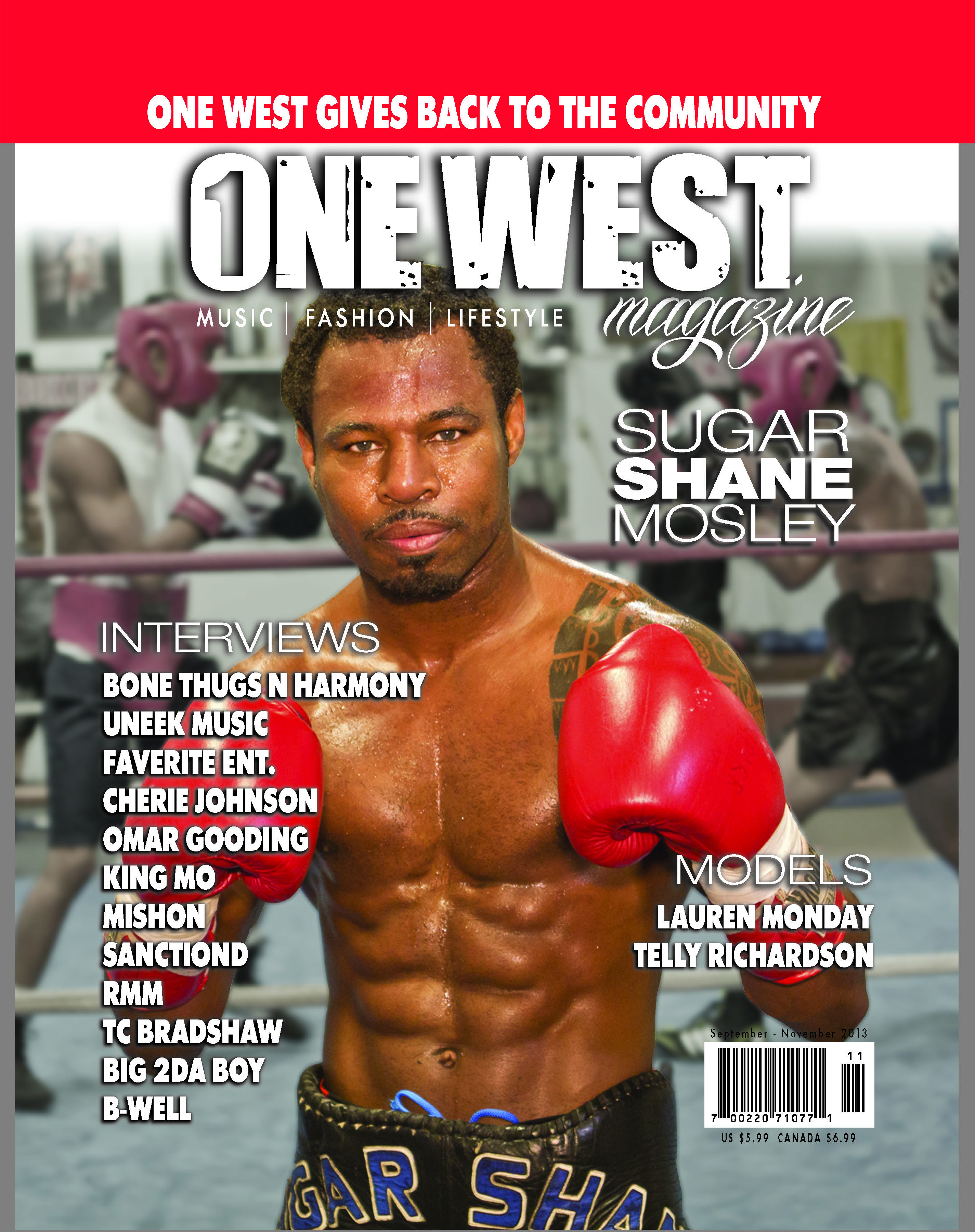 One West Magazine - Sugar Shane Mosley Cover (September to November 2013)