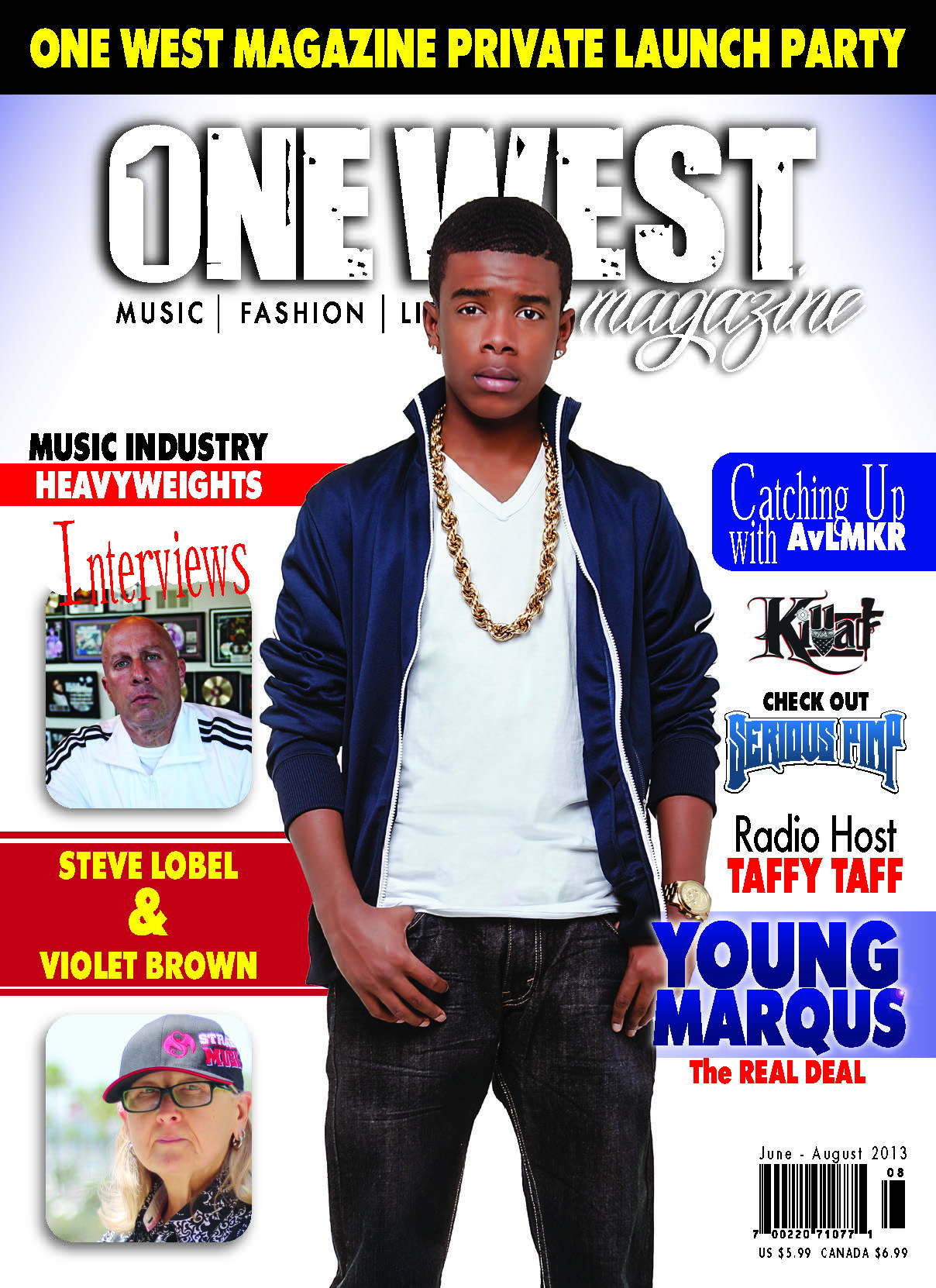 One West Magazine - Young Marqus Cover (June 2013 to August 2013)