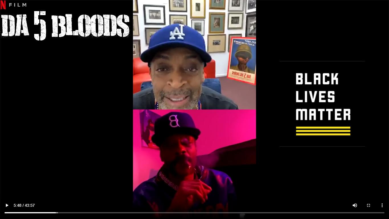 Spike Lee Snoop Dogg Instagram Live Da 5 Bloods BLM