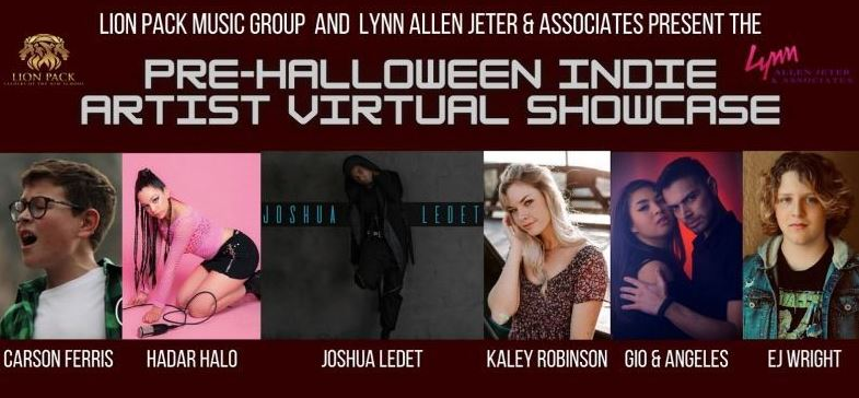 10-24-20 FINAL Pre-Halloween Indie Artist Line Up ll