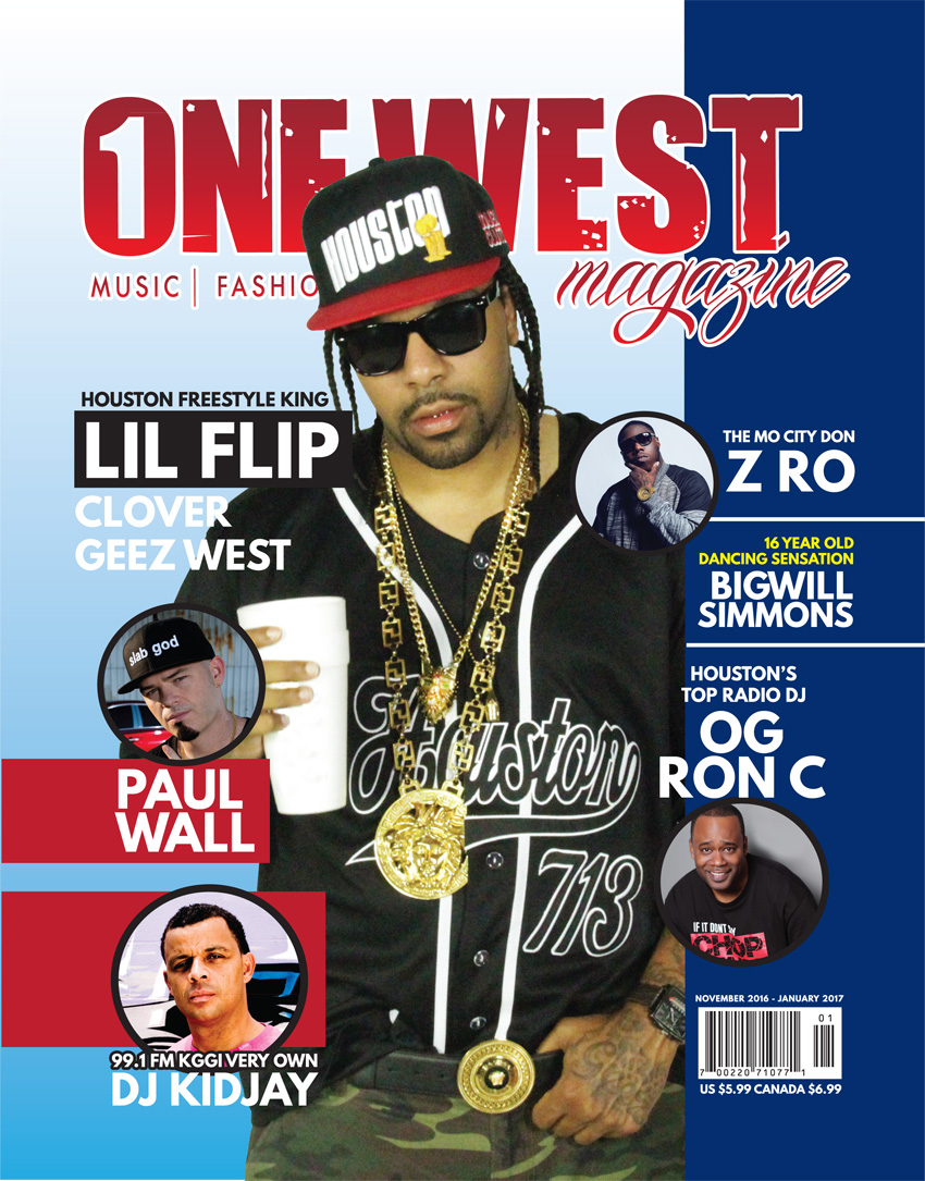 One West Magazine - Lil Flip Cover (Novembember 2016 to January 2017)